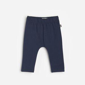Reserved - Bavlněné teplákové kalhoty - Tmavomodrá