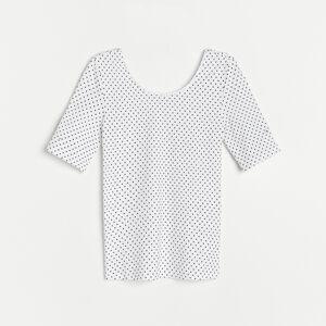 Reserved - Vzorované tričko - Bílá