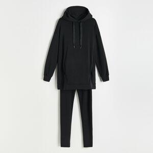 Reserved - Pyžamová souprava ze směsi modalu - Černý