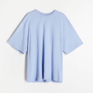 Reserved - Bavlněné tričko oversized - Modrá