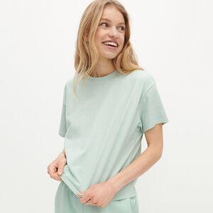 Reserved - Krátké tričko zorganické bavlny - Zelená