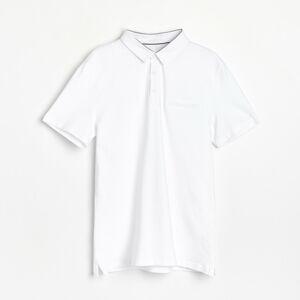 Reserved - Hladké polo - Bílá