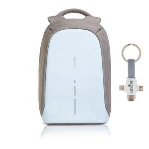 """Městský bezpečnostní batoh, Bobby Compact, 14"""", XD Design, pastelově modrý"""