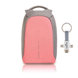 """Městský bezpečnostní batoh, Bobby Compact, 14"""", XD Design, růžový"""