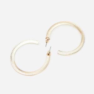 Reserved - Kruhové náušnice ve zlaté barvě - Zlatá