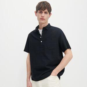 Reserved - Košile comfort fit spříměsí lnu - Černý