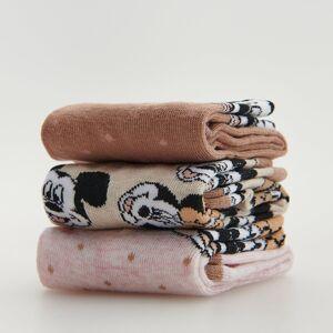 Reserved - Sada 3párů vzorovaných ponožek Mickey Mouse - Růžová