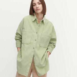 Reserved - Manšestrová košile oversize - Zelená