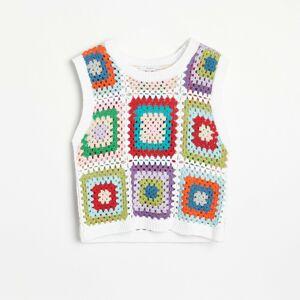 Reserved - Háčkovaná vesta - Vícebarevná