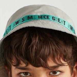 Reserved - Klobouk bucket hat sozdobným pásem - Světle šedá