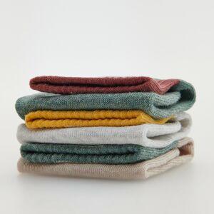 Reserved - Sada 3párů ponožek svysokým podílem bavlny - Khaki