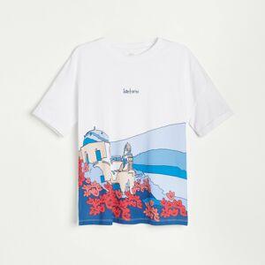 Reserved - Bavlněné tričko s potiskem - Vícebarevná