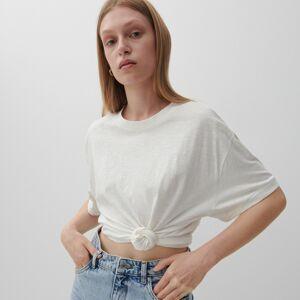 Reserved - Tričko z organické bavlny - Krémová
