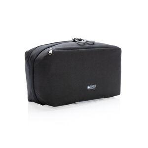 Chytrá cestovní toaletní taška, Swiss Peak, černá