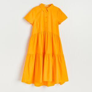 Reserved - Šaty zorganické bavlny - Oranžová