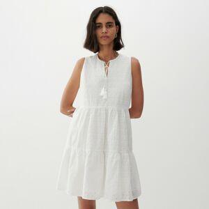 Reserved - Šaty s ažurovým vzorem - Bílá