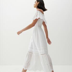 Reserved - Šaty sažurovou krajkou - Bílá
