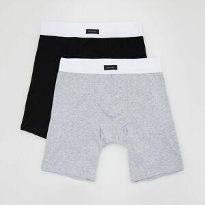 Reserved - Dvojbalení boxerek long fit - Světle šedá