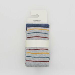 Reserved - Sada 2punčocháčů svysokým podílem organické bavlny - Tmavomodrá