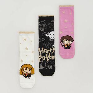 Reserved - Sada 3párů ponožek Harry Potter - Černý