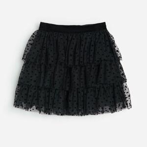 Reserved - Tylová sukně spuntíky - Černý