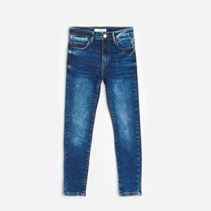 Reserved - GIRLS` JEANS TROUSERS - Tmavomodrá
