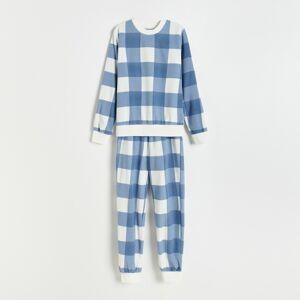 Reserved - Kostkované pyžamo - Krémová