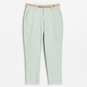 Reserved - Chino kalhoty s páskem - Zelená