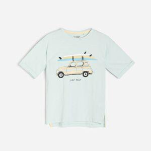 Reserved - Volné tričko s potiskem - Tyrkysová