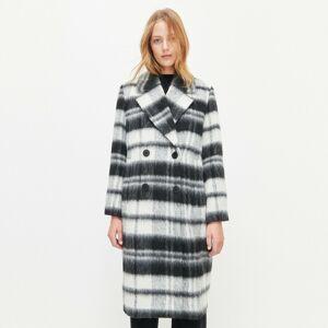 Reserved - Kostkovaný kabát ze směsi vlny - Vícebarevná