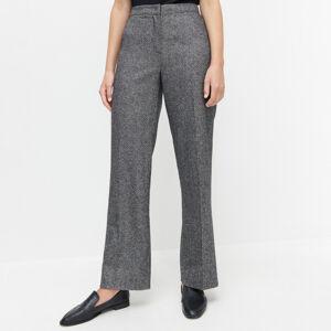 Reserved - Kostýmkové kalhoty spříměsí vlny - Vícebarevná