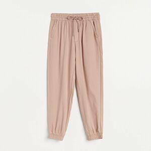 Reserved - Úpletové kalhoty jogger - Růžová