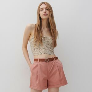 Reserved - Jednobarevné šortky - Oranžová