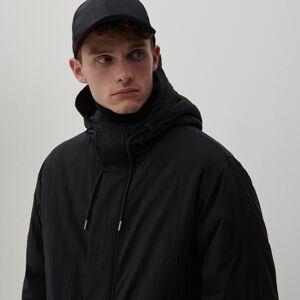 Reserved - Kabát s kapucí - Černý