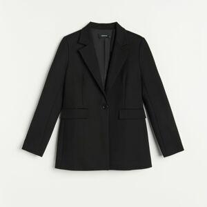 Reserved - Hladký oblekový blejzr - Černý