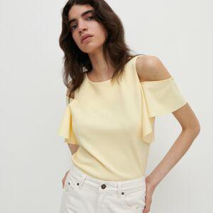 Reserved - Úpletové tričko - Žlutá
