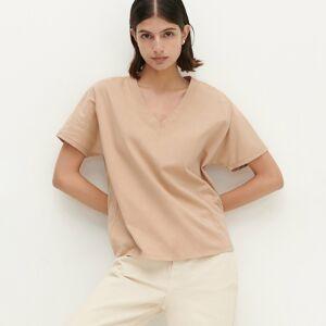 Reserved - Přírodně barvené tričko - Béžová