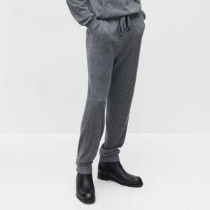 Reserved - Žerzejové kalhoty zmerino vlny - Šedá