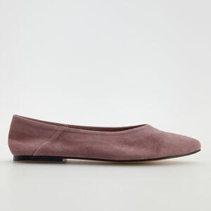 Reserved - Kožené baleríny - Růžová