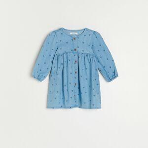 Reserved - Bavlněné šaty - Modrá