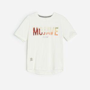 Reserved - Bavlněné tričko s3Dnápisem - Krémová