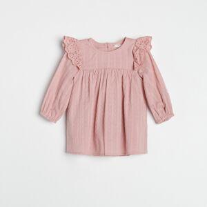 Reserved - Šaty s ažurovými detaily - Růžová