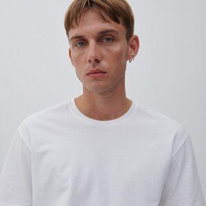 Reserved - Bavlněné tričko basic - Bílá