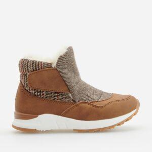 Reserved - Zateplené kotníkové boty ve sportovním stylu - Hnědá