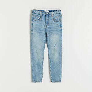 Reserved - Džíny s vysokým pasem - Modrá