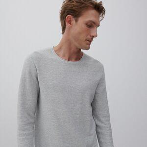 Reserved - Bavlněný svetr basic - Světle šedá