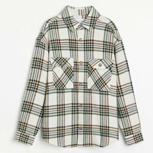 Reserved - Kostkovaná košilová bunda - Vícebarevná