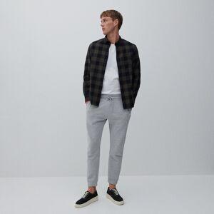 Reserved - Bavlněná kostkovaná košile - Khaki