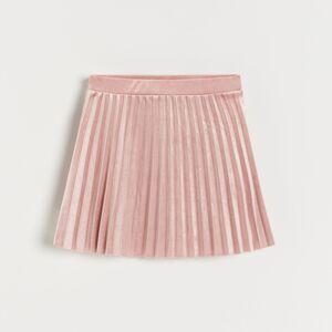 Reserved - Skládaná sukně - Růžová