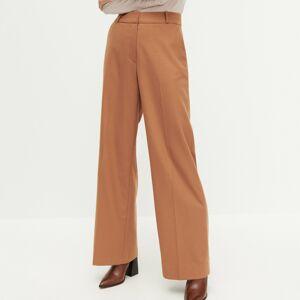 Reserved - Kalhoty se širokými nohavicemi - Hnědá